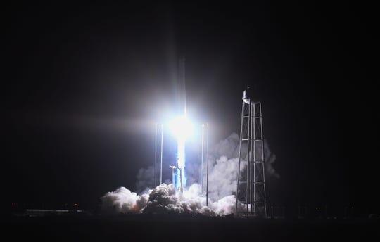 The NG-10 Antares rocket successfully launched from Wallops Flight Facility at 4:01 a.m on Saturday, Nov. 17, 2018 from Wallops Island, Va.