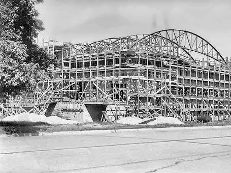 The Sheboygan Armory as seen September 17, 1941 during its construction.