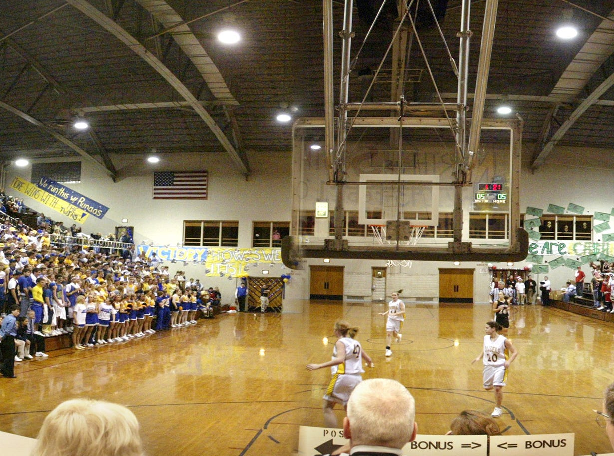 A panoramic inside the Sheboygan Armory during the last North South game in 2007 in Sheboygan, Wis.