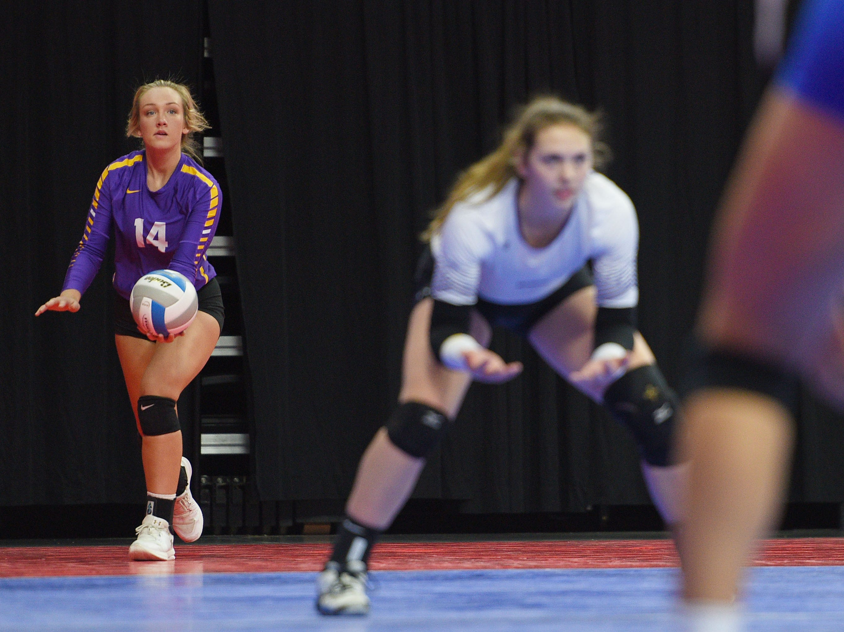 Watertown's Alexx Bayles during the game against RC Stevens during the semifinals Friday, Nov. 16, at the Denny Sanford Premier Center in Sioux Falls.