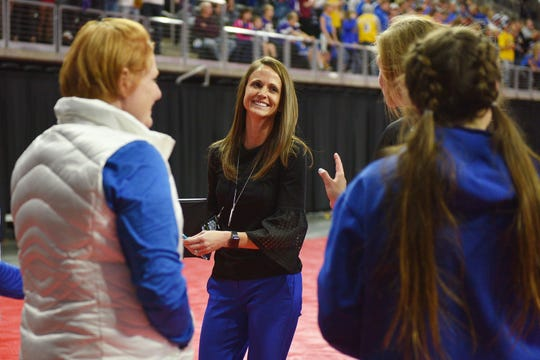 Rapid City Stevens volleyball coach Kylie Voorhees