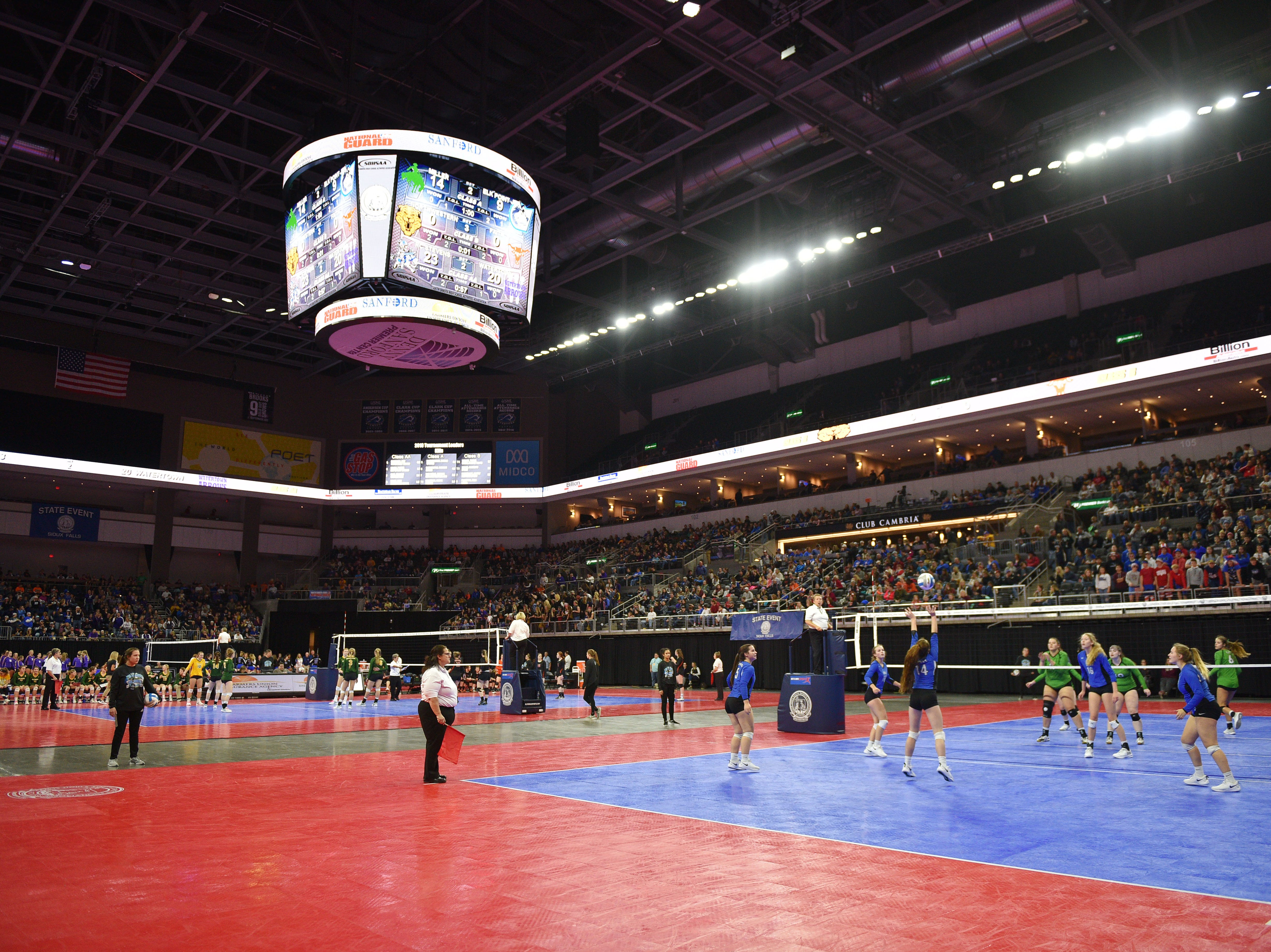 Volleyball Semifinals Friday, Nov. 16, at the Denny Sanford Premier Center in Sioux Falls.