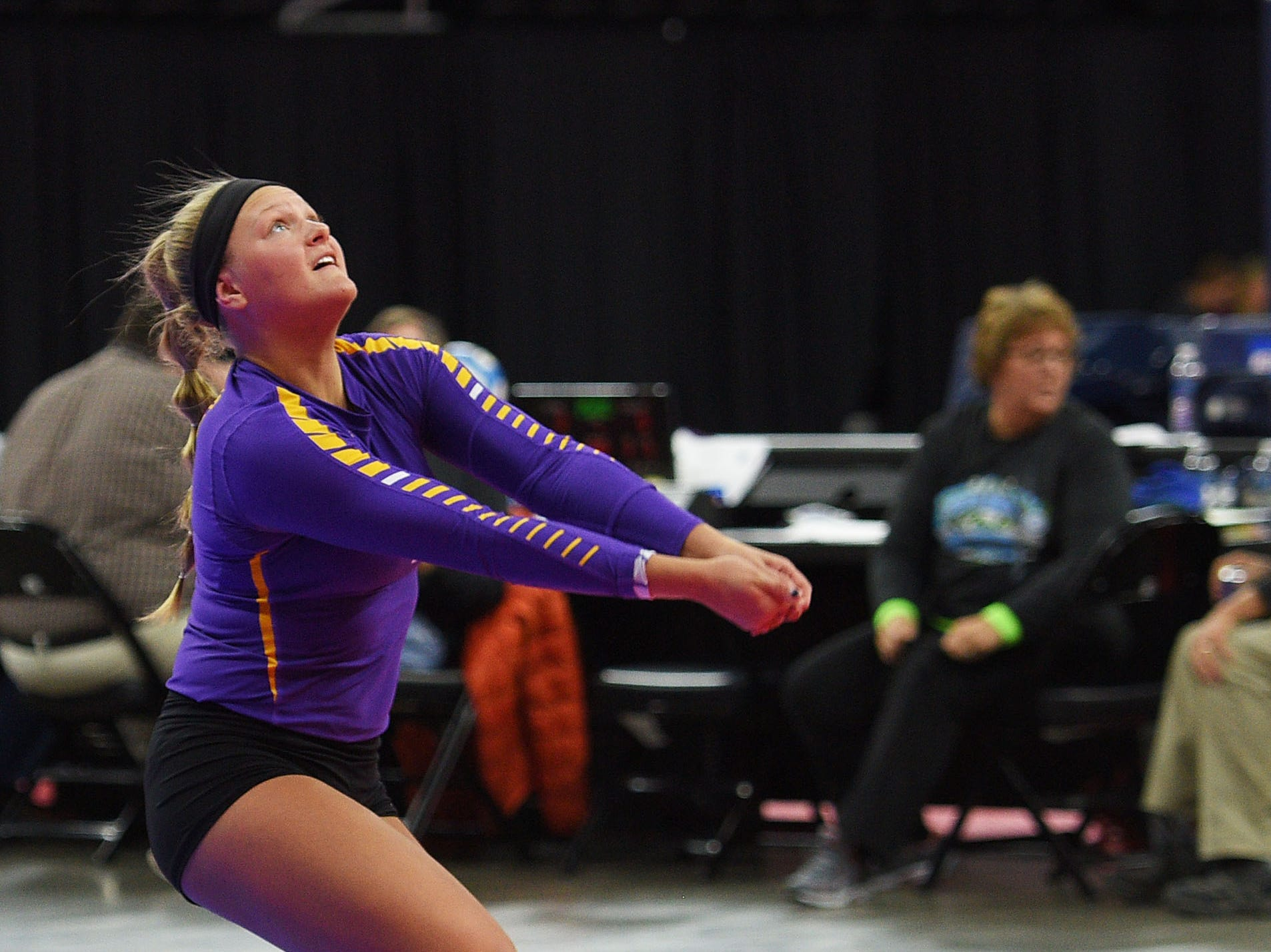 Watertown's Annie Norberg during the game against RC Stevens during the semifinals Friday, Nov. 16, at the Denny Sanford Premier Center in Sioux Falls.