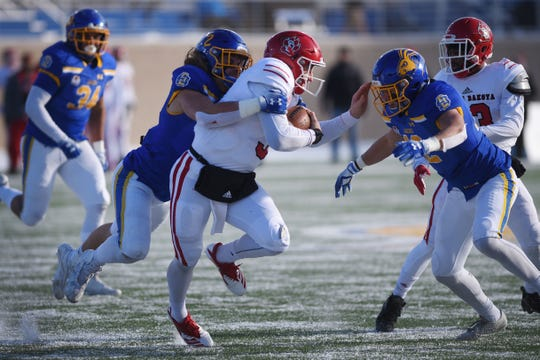 SDSU's Christian Rozeboom and USD's Austin Simmons will lock horns one more time Saturday at the DakotaDome.