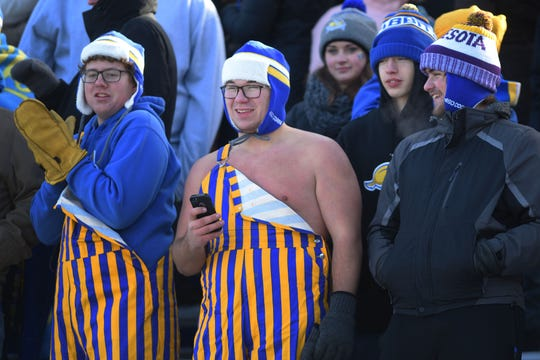 SDSU's student section during the game against USD Saturday, Nov. 17, at Dana Dykhouse Stadium stadium in Brookings.