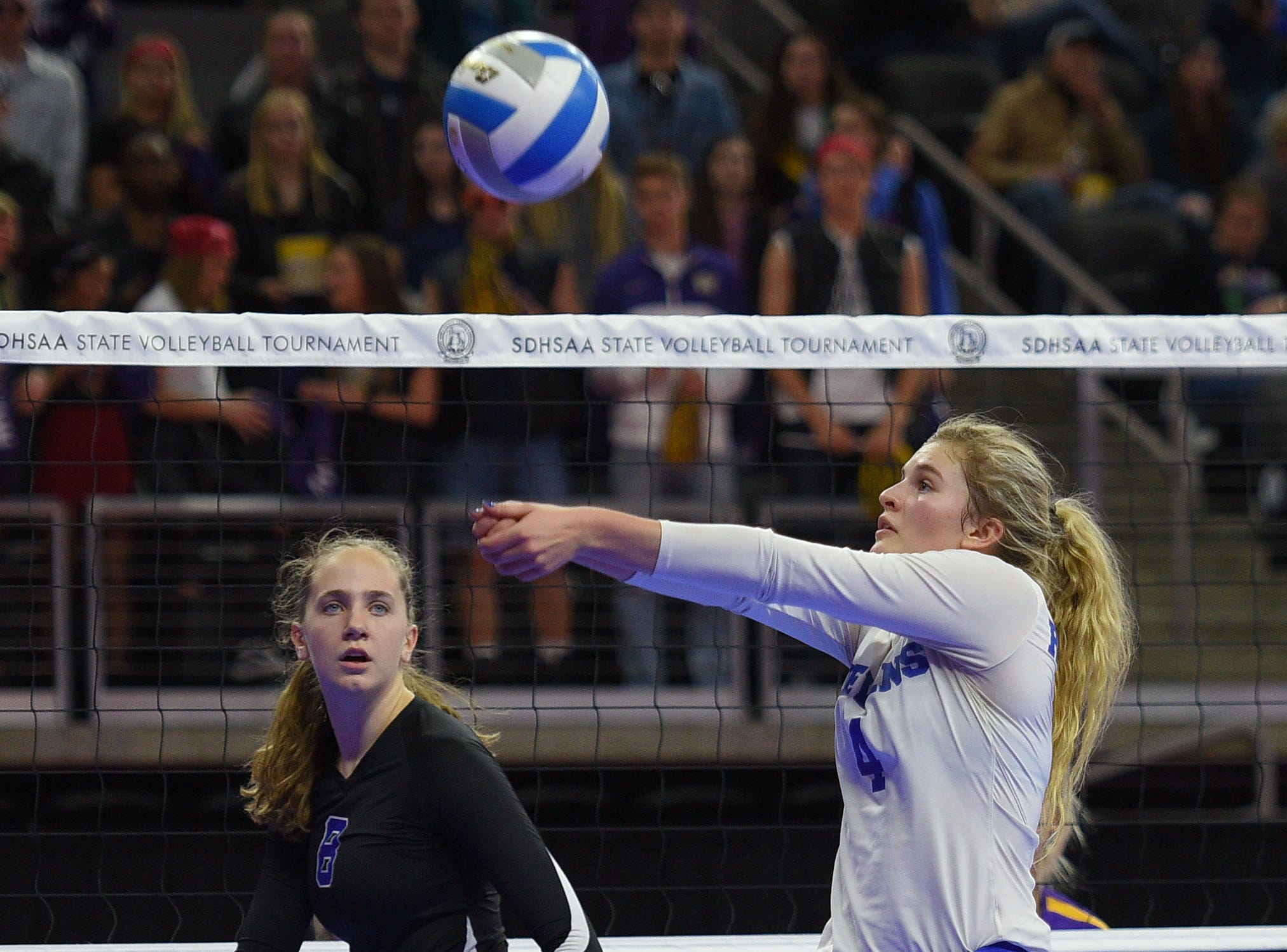 RC Stevens' Laura Petik during the game against Watertown during the semifinals Friday, Nov. 16, at the Denny Sanford Premier Center in Sioux Falls.