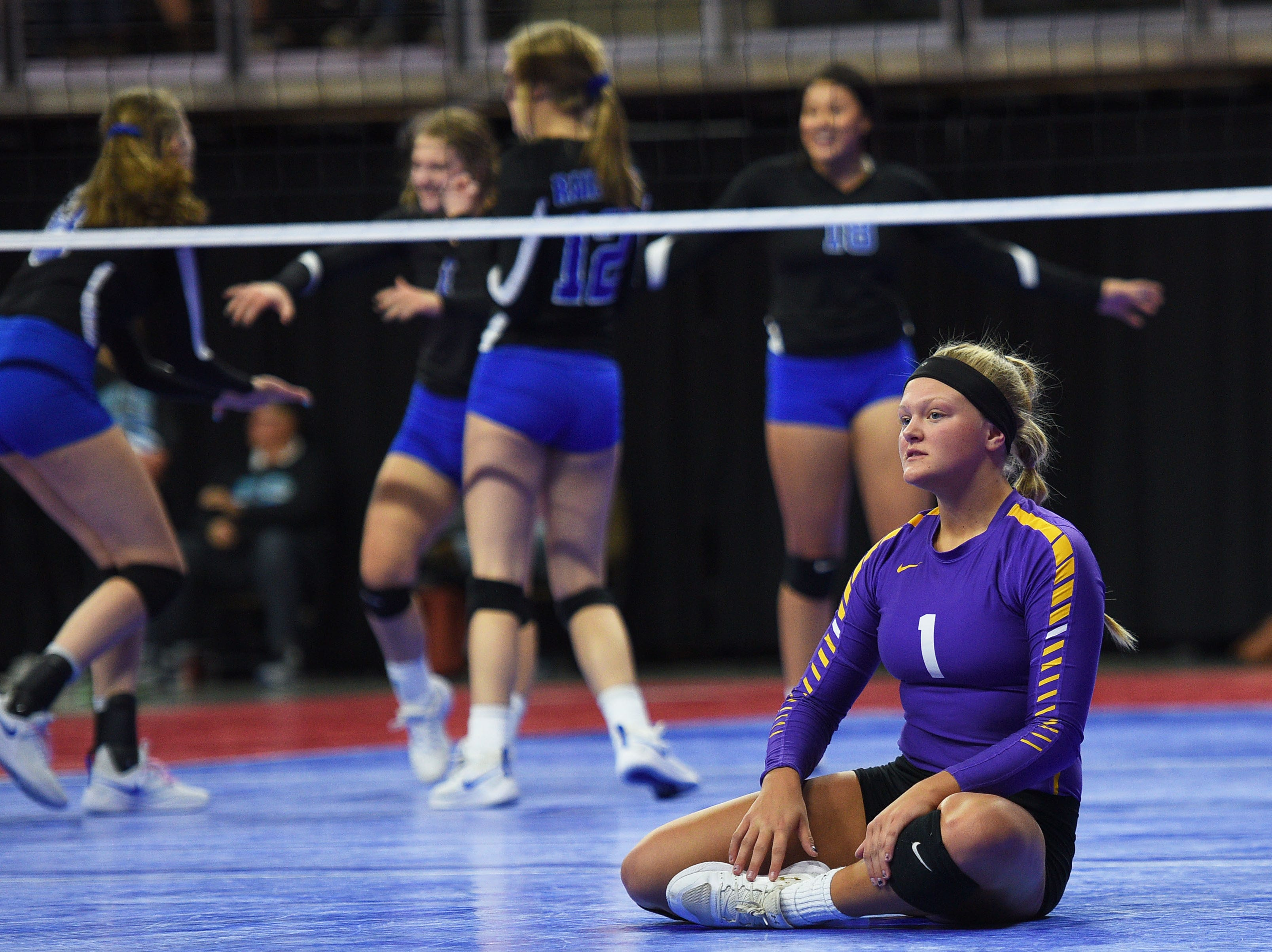Watertown's Annie Norberg during the semifinals Friday, Nov. 16, at the Denny Sanford Premier Center in Sioux Falls.