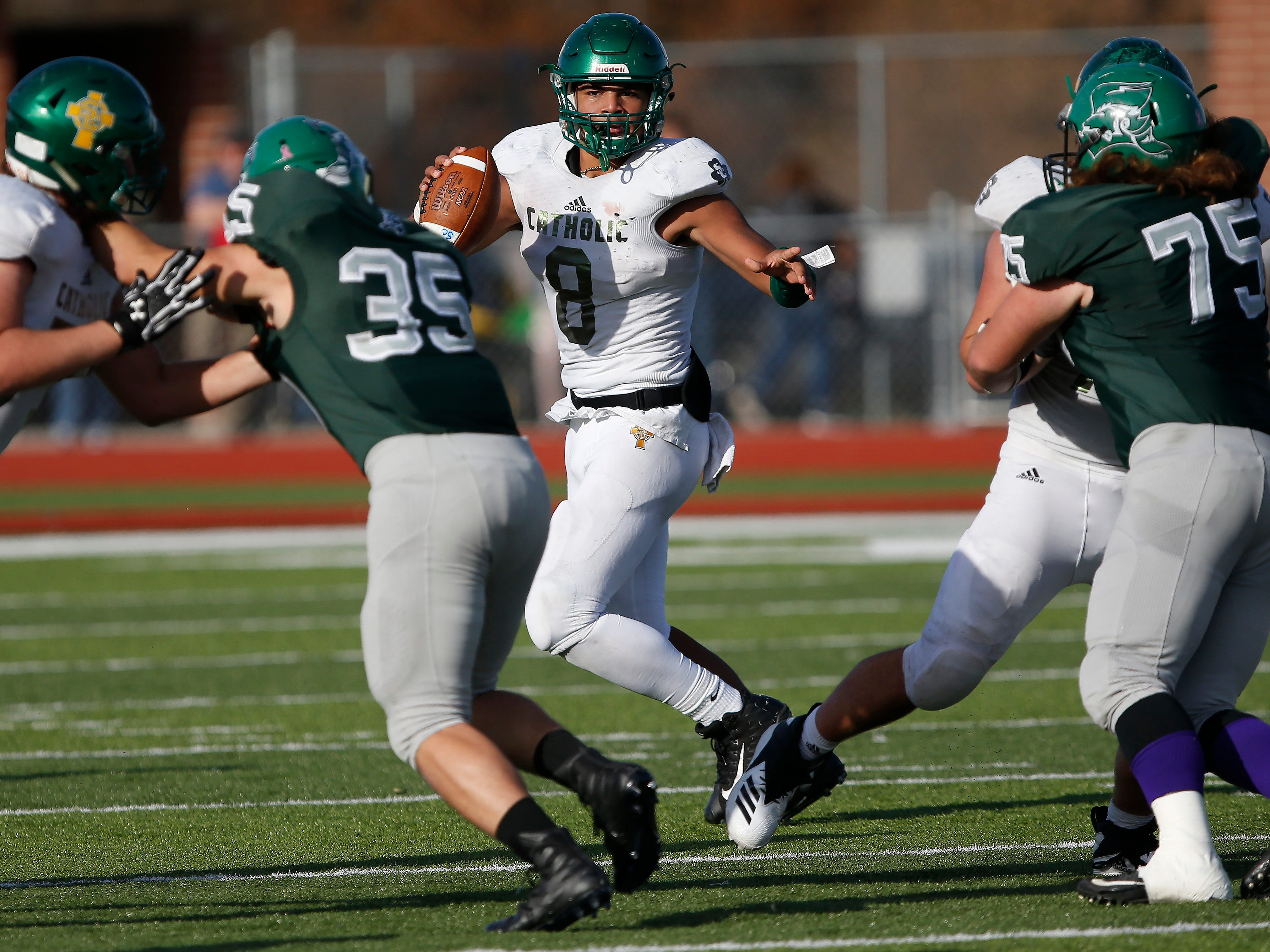Springfield Catholic lost 26-18 in the Class 3 Quarterfinal game against Mount Vernon at Mount Vernon High School on Saturday, Nov. 17, 2018.