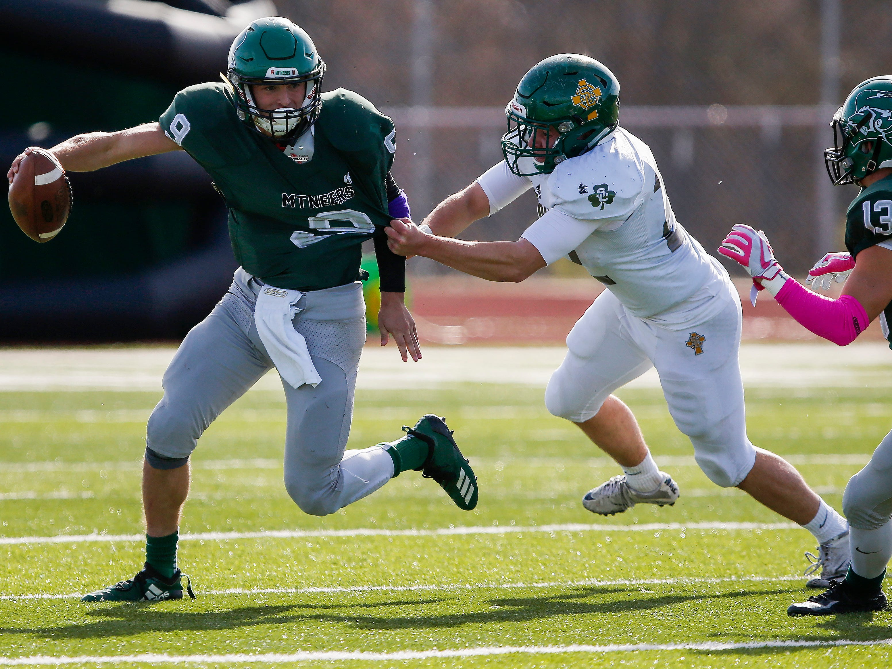 Springfield Catholic lost in the Class 3 Quarterfinal game against Mount Vernon at Mount Vernon High School on Saturday, Nov. 17, 2018.