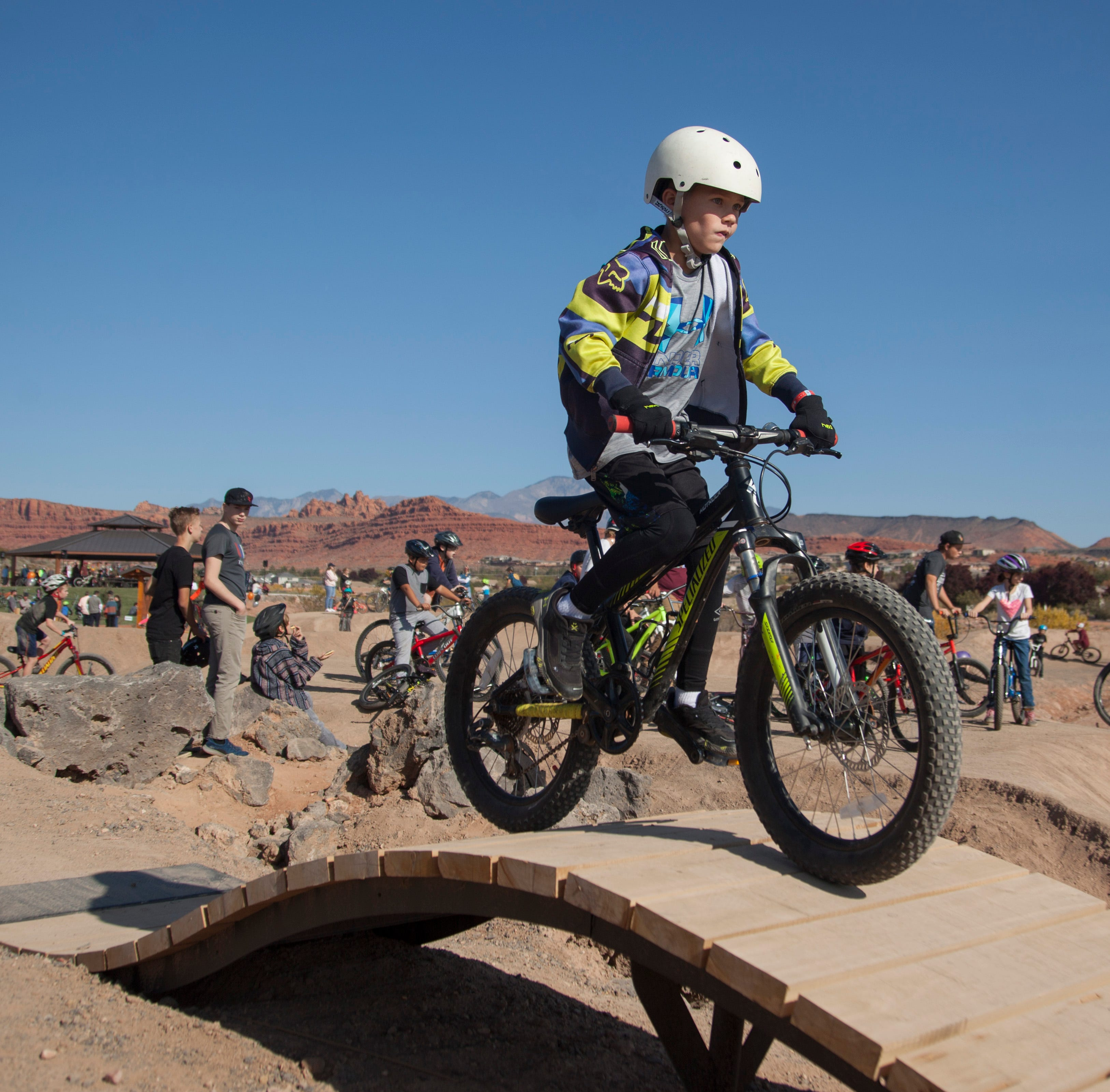 Cyclists put their skills to the test at Snake Hollow Bike Park grand opening