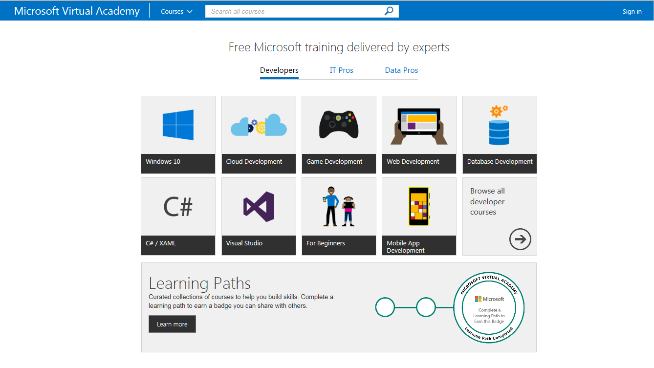 Free ebooks available from Microsoft