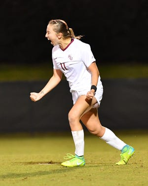Gloriana Villalobos' first goal of the season cemented FSU's 3-1 win over USF in the second round of the NCAA Tournament.