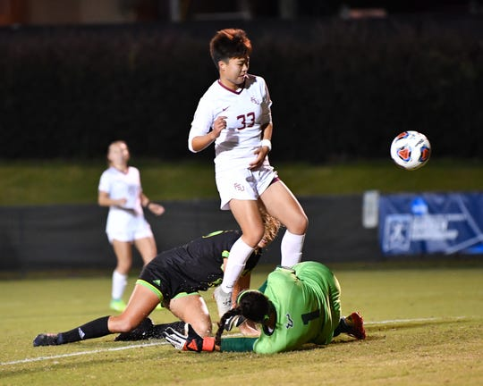 Freshman midfielder Yujie Zhao scored her seventh goal of the season to put FSU ahead in its 3-1 win over USF in the second round of the NCAA Tournament.