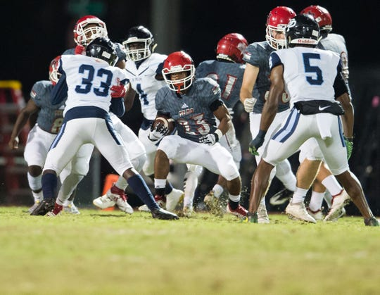 Vero Beach plays against Dr. Phillips (Orlando) during the Class 8A Regional Semifinal high school football game Friday, Nov. 16, 2018, at the Citrus Bowl in Vero Beach. The Florida High School Athletic Association's Athletic Directors Advisory Committee voted Wednesday to approve a proposal to use a Ratings Percentage Index (RPI) to determine which teams advance to the postseason.