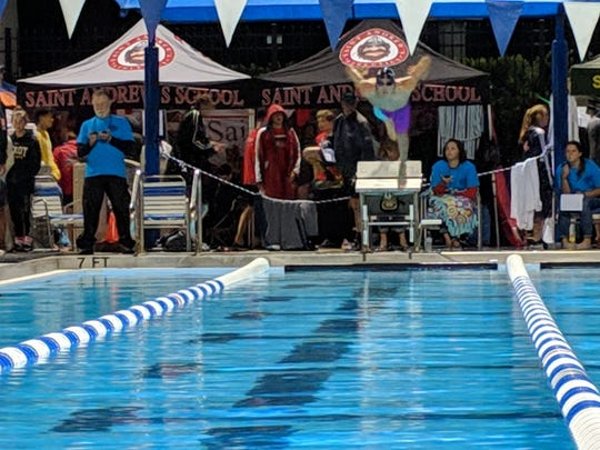 St. Edward's junior Tomas Botero placed 11th in the 500-yard freestyle at the FHSAA Class 1A State Swim Championships on Friday at Sailfish Splash.