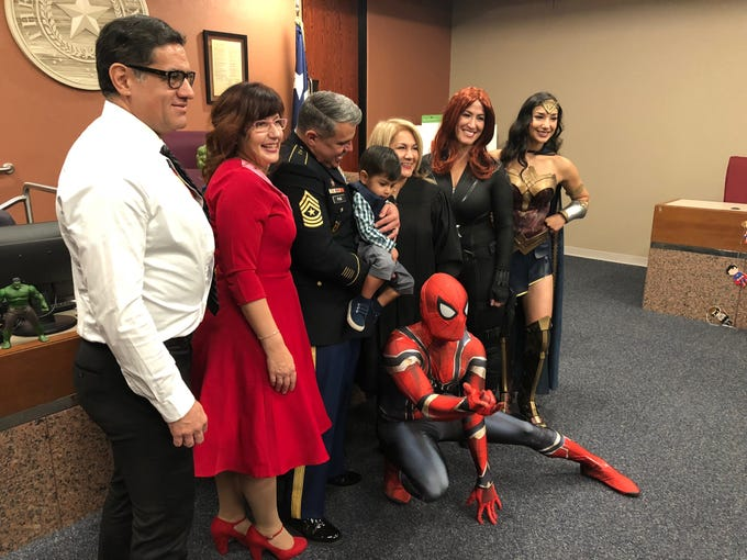 A National Adoption Day event was held Saturday at the El Paso County Courthouse. A total of 29 children were officially adopted by 12 El Paso families.