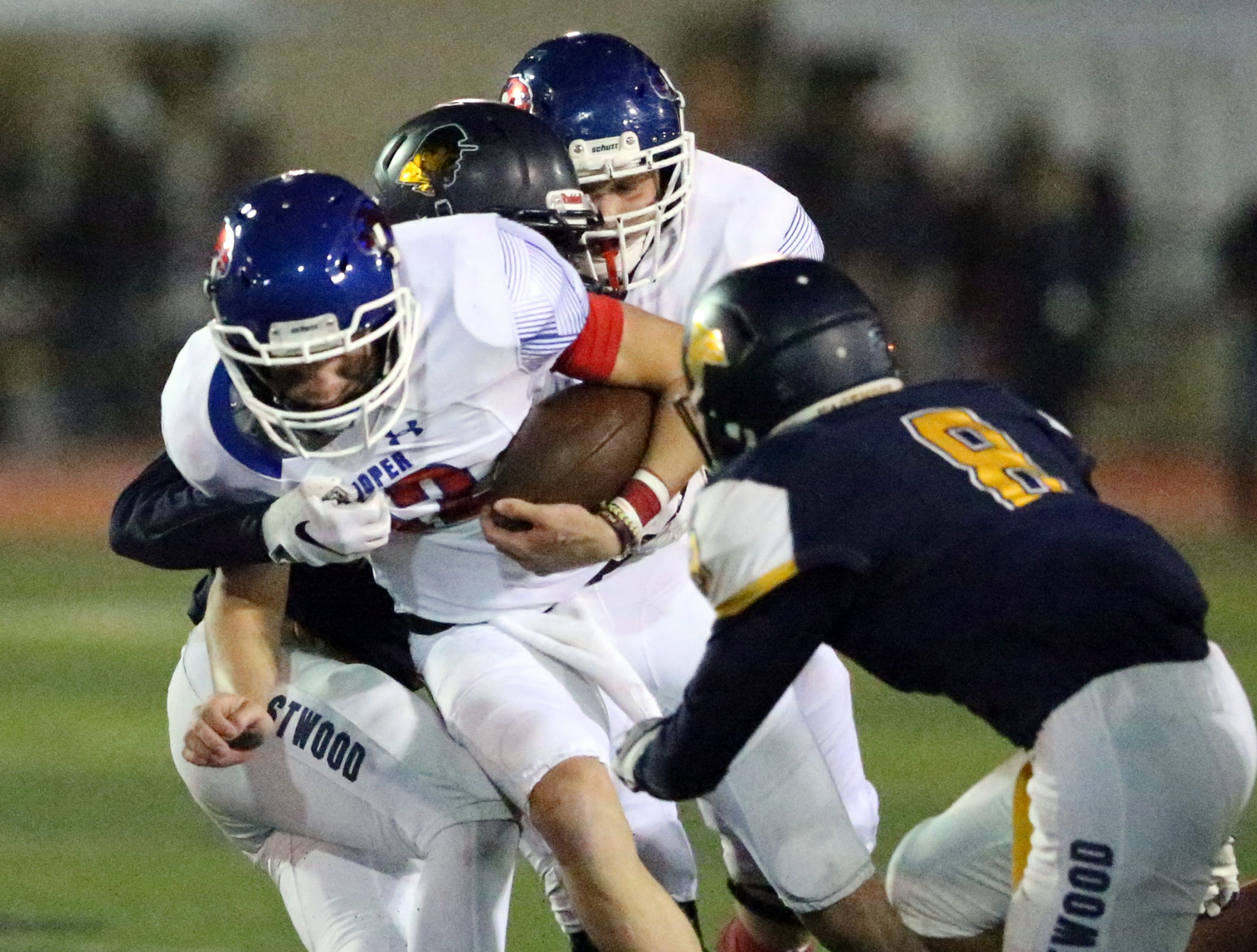 Abilene Cooper running back Noah Garcia gets the call up the middle against Eastwood Friday night.