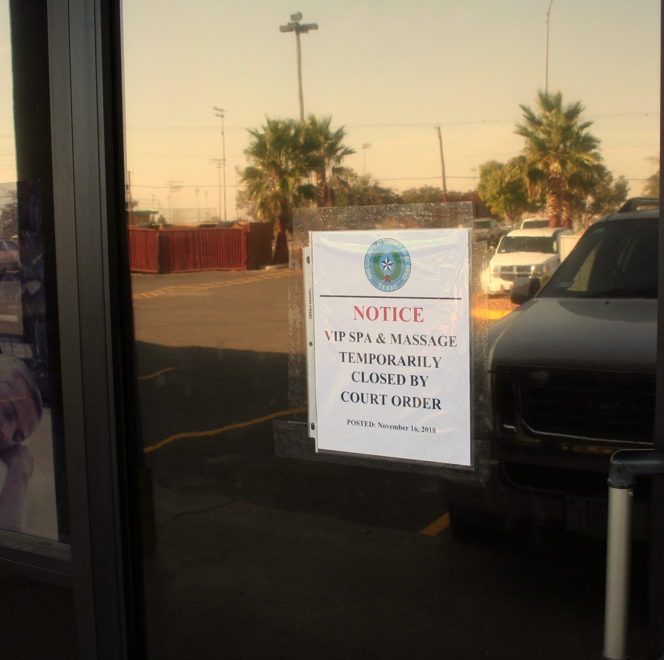 East El Paso massage parlor shut down after authorities allege illegal activity