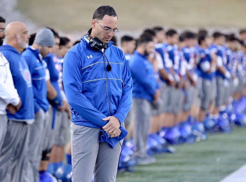 Americas High School's coach and players had a moment of silence for former running back Jack Fields, who died Thursday in Augusta, Georgia.