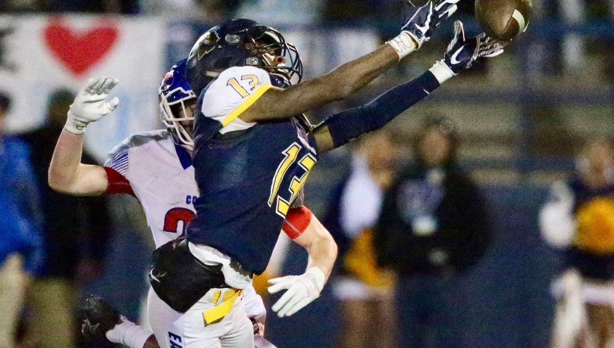 The ball was just out of reach for Eastwood wide receiver Trilarry Coleman in the fourth quarter against Abilene Cooper.