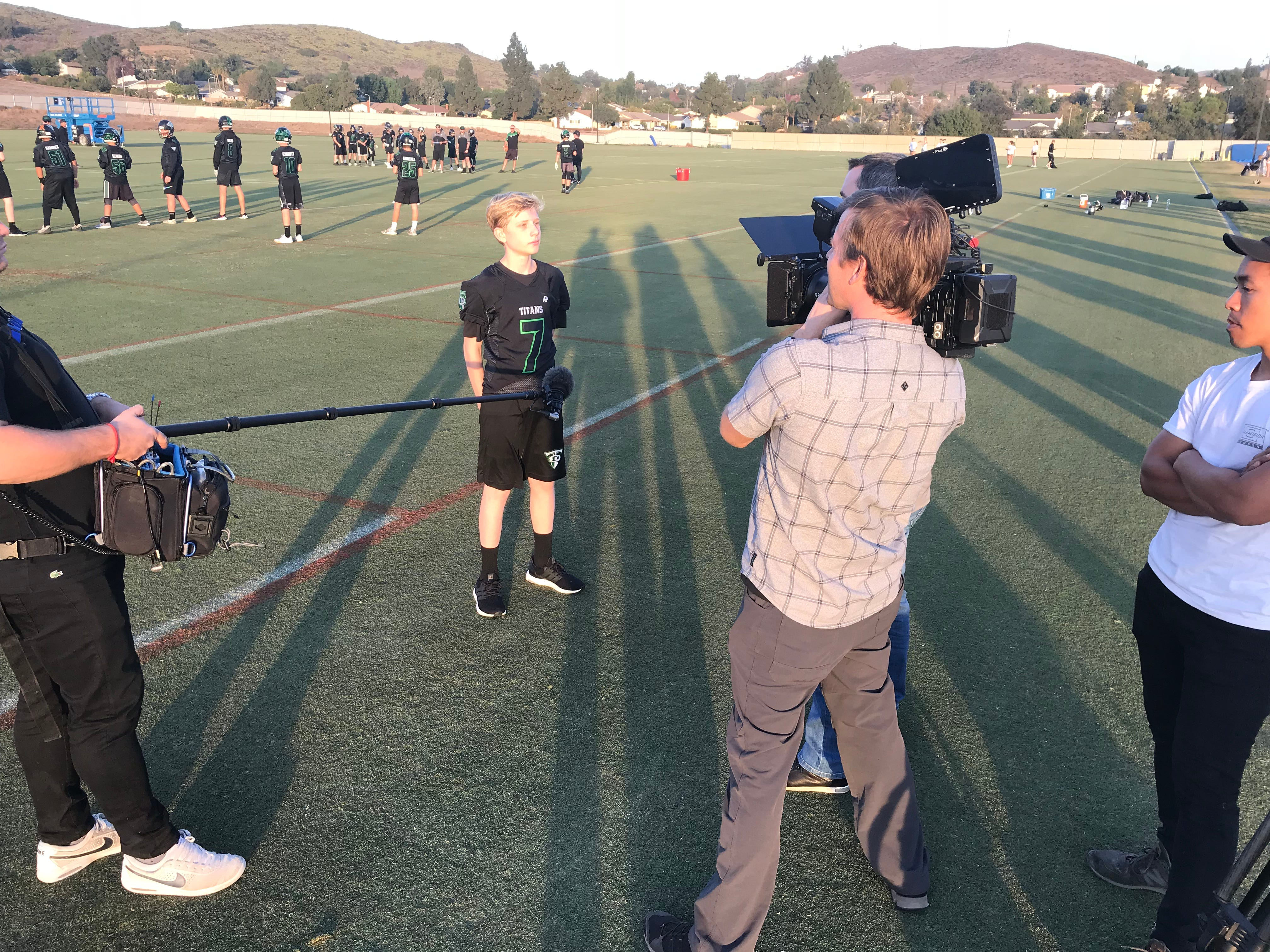 Displaced Thousand Oaks youth football team prepares for its Super Bowl at Rams facility