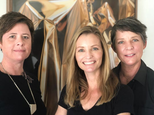 Beato Chocolates is operated by chocolatier Emily Burson, center, and Porch Gallery owners Heather Stobo, left, and Lisa Casoni.