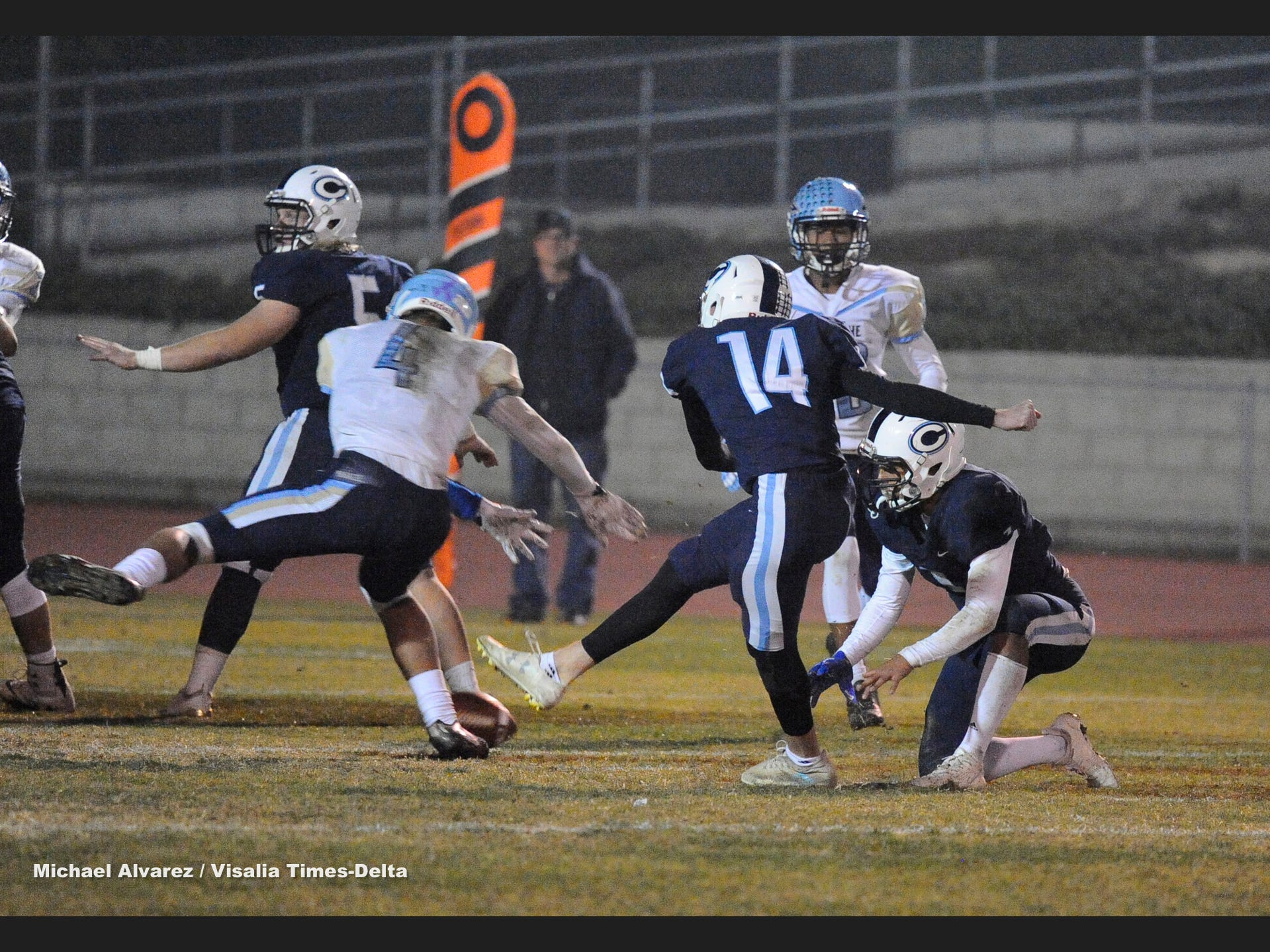 Monache against Central Valley Christian during the Central Section Division IV playoff on November 16, 2018.