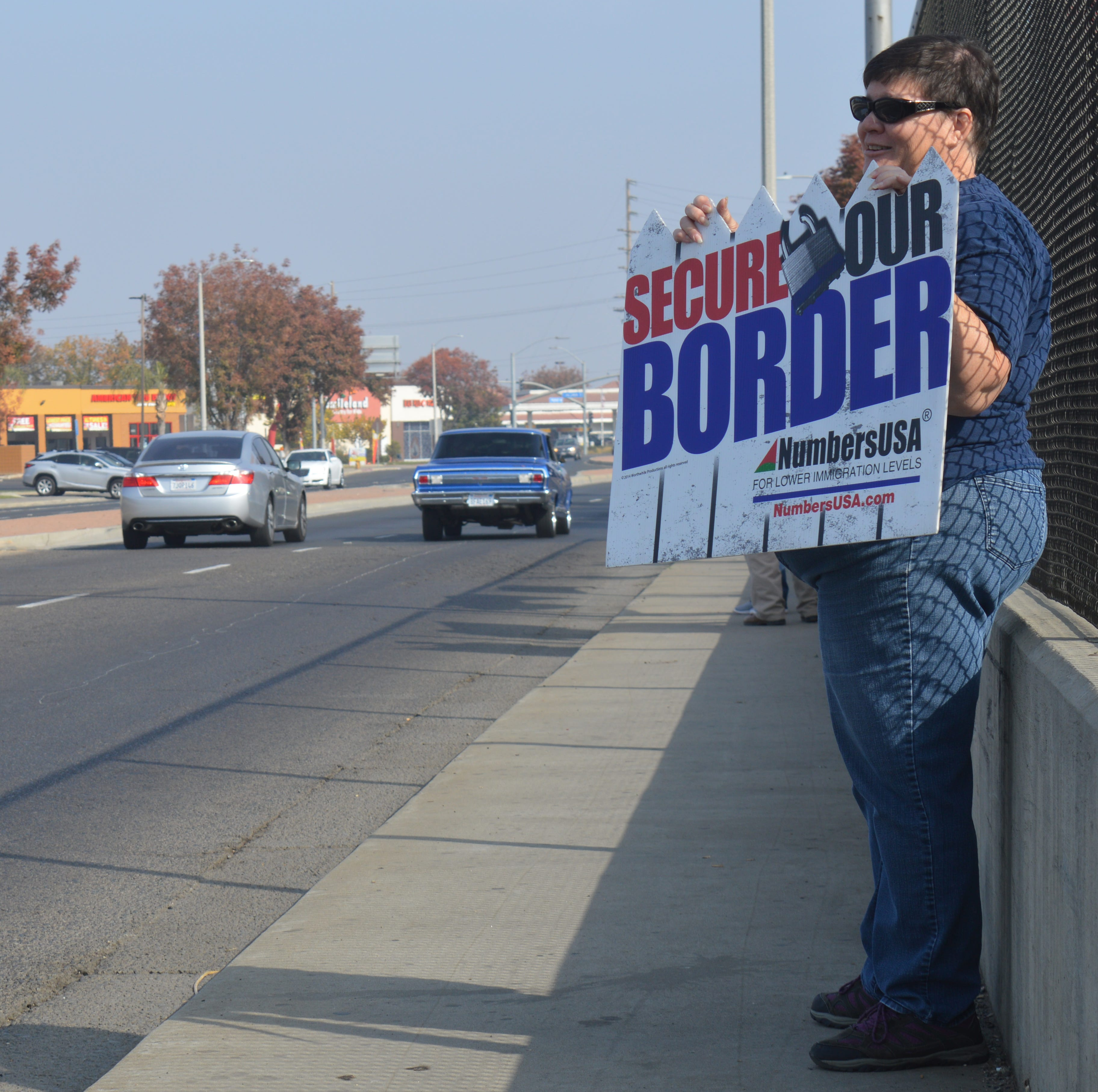 Border control protesters hit the streets in Tulare