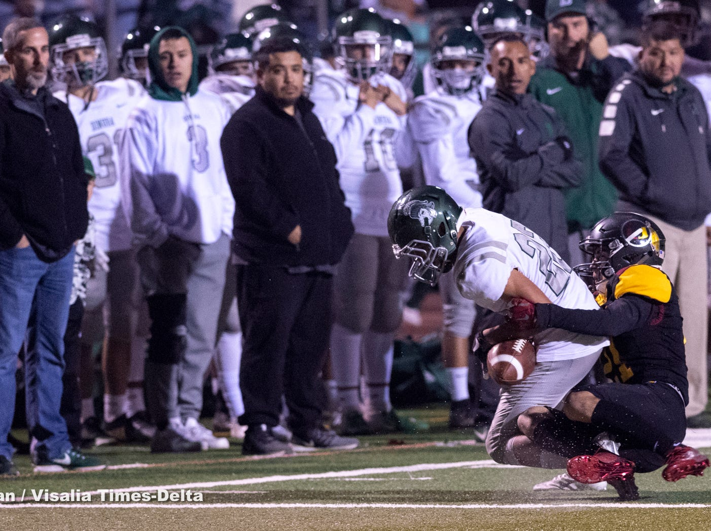 Tulare Union hosts Dinuba in a Central Section Division II semifinal high school football playoff on Friday, November 16, 2018.