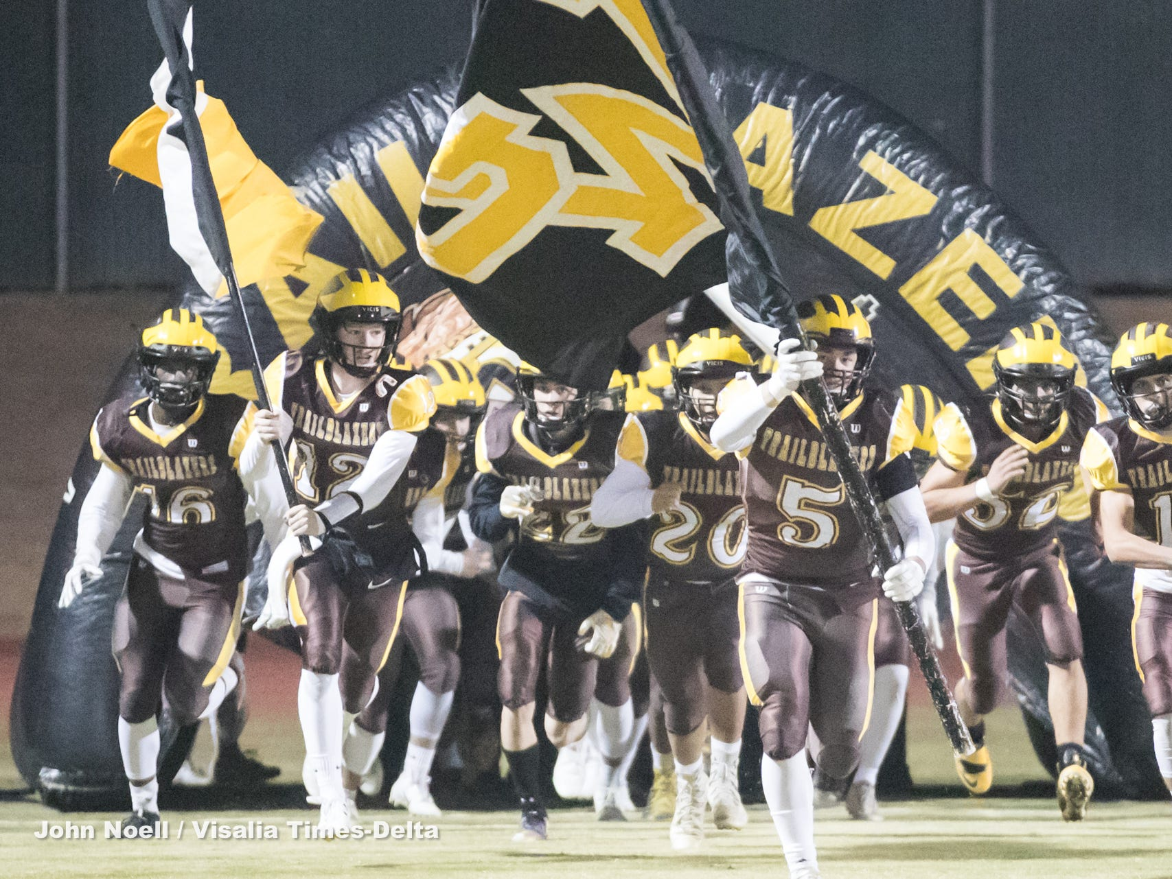 Central Section Division IV high school football semifinal playoff game between Wasco and Golden West on Friday, November 16, 2018.