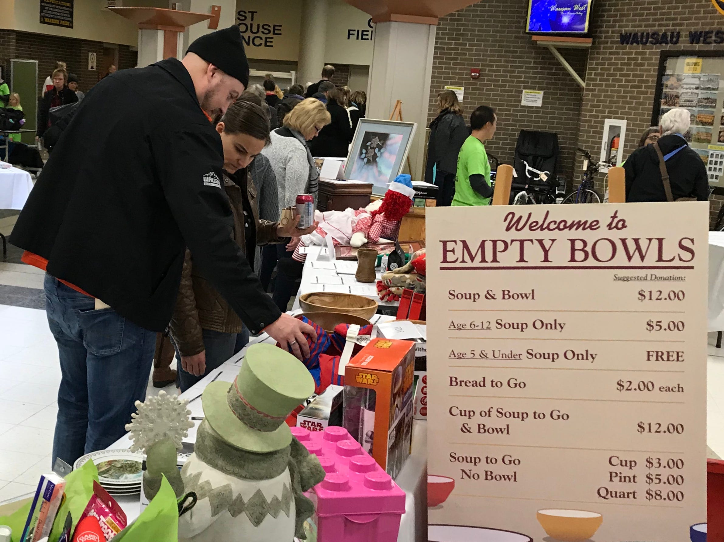 The 11th annual Empty Bowls fundraiser for The Neighbors' Place was held Saturday, Nov. 17., at Wausau West High School.