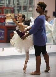 Nyack tennis player Dahlia Luongo, during ballet practice at Coupe Theatre Studio in Nanuet Nov. 16, 2018.