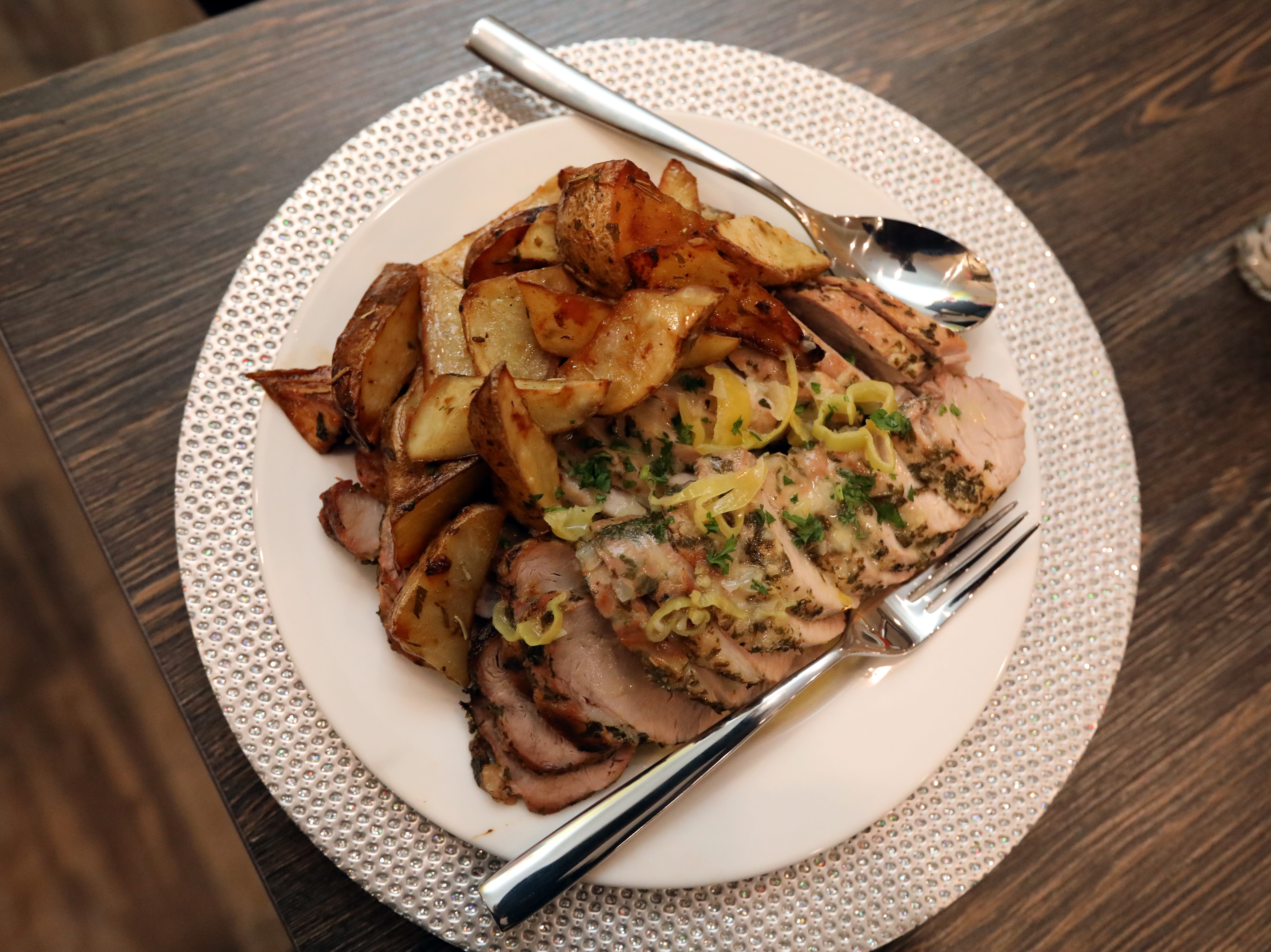 Rosemary pork tenderloin at Joe and Joe in Nyack Nov. 16, 2018.