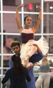Nyack tennis player Dahlia Luongo, during ballet rehearsal at Coupe Theatre Studio in Nanuet Nov. 16, 2018.