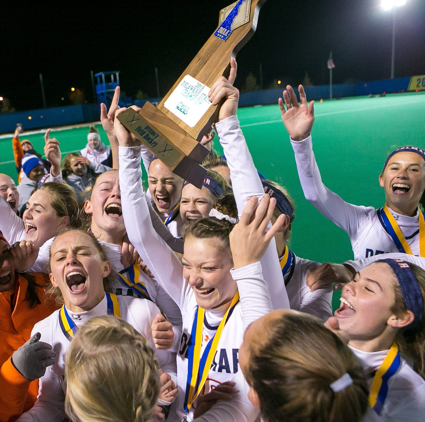 Delmar defeats Caravel to claim its third straight field hockey state title
