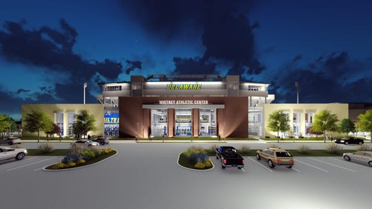 The Whitney Athletic Center will be constructed on the west side of Delaware Stadium and be connected to it.