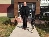 Joe Biden adopts a dog, whom he named Major, in 2018 from the Delaware Humane Society. He has another dog named Champ.