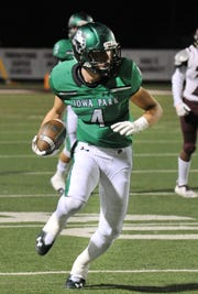 Iowa Park's Cirby Coheley has been a strong addition for the Hawks this season, filling in at quarterback and starting at safety.