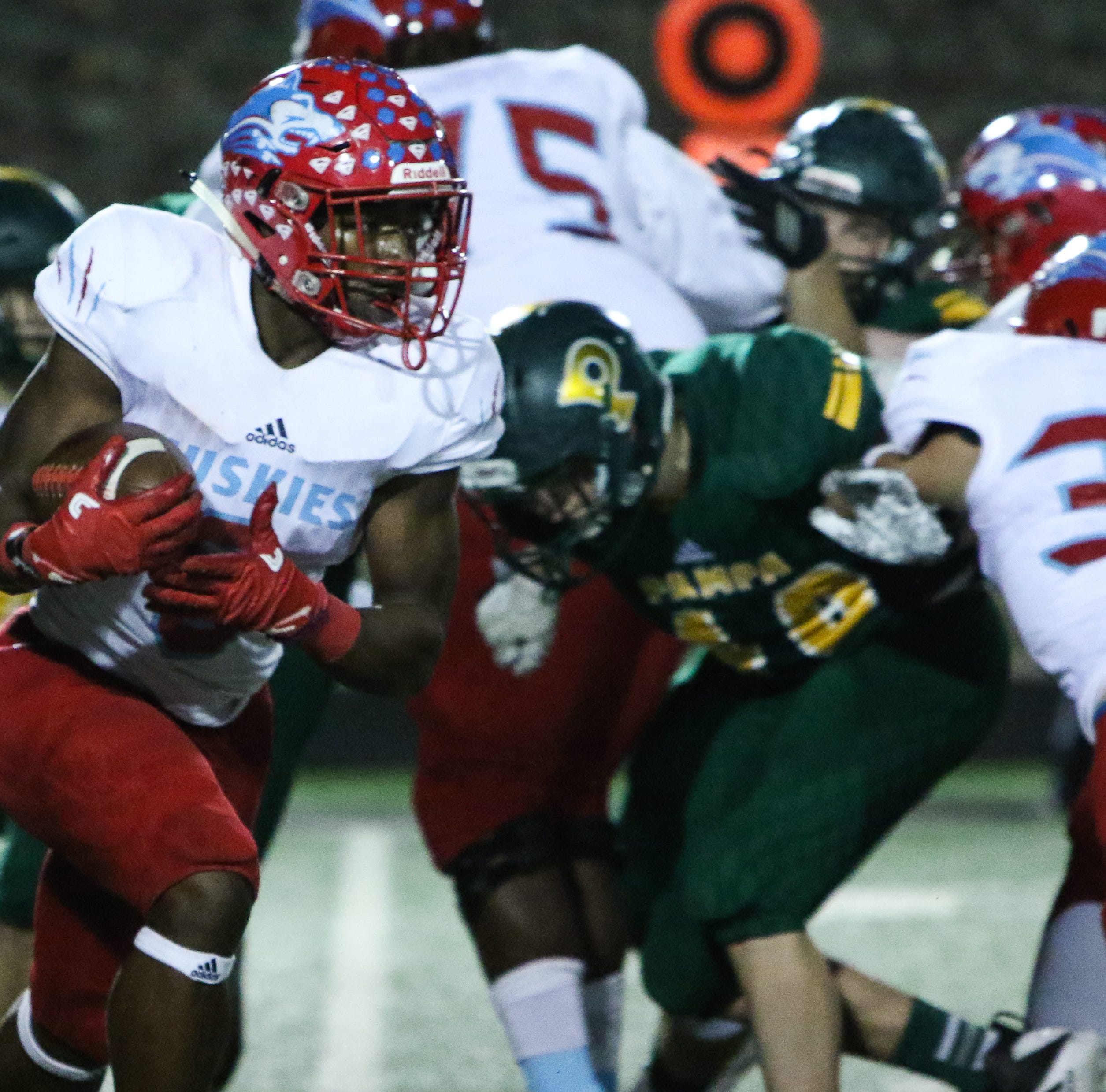 Short-handed Hirschi Huskies pull away from Pampa in the second half