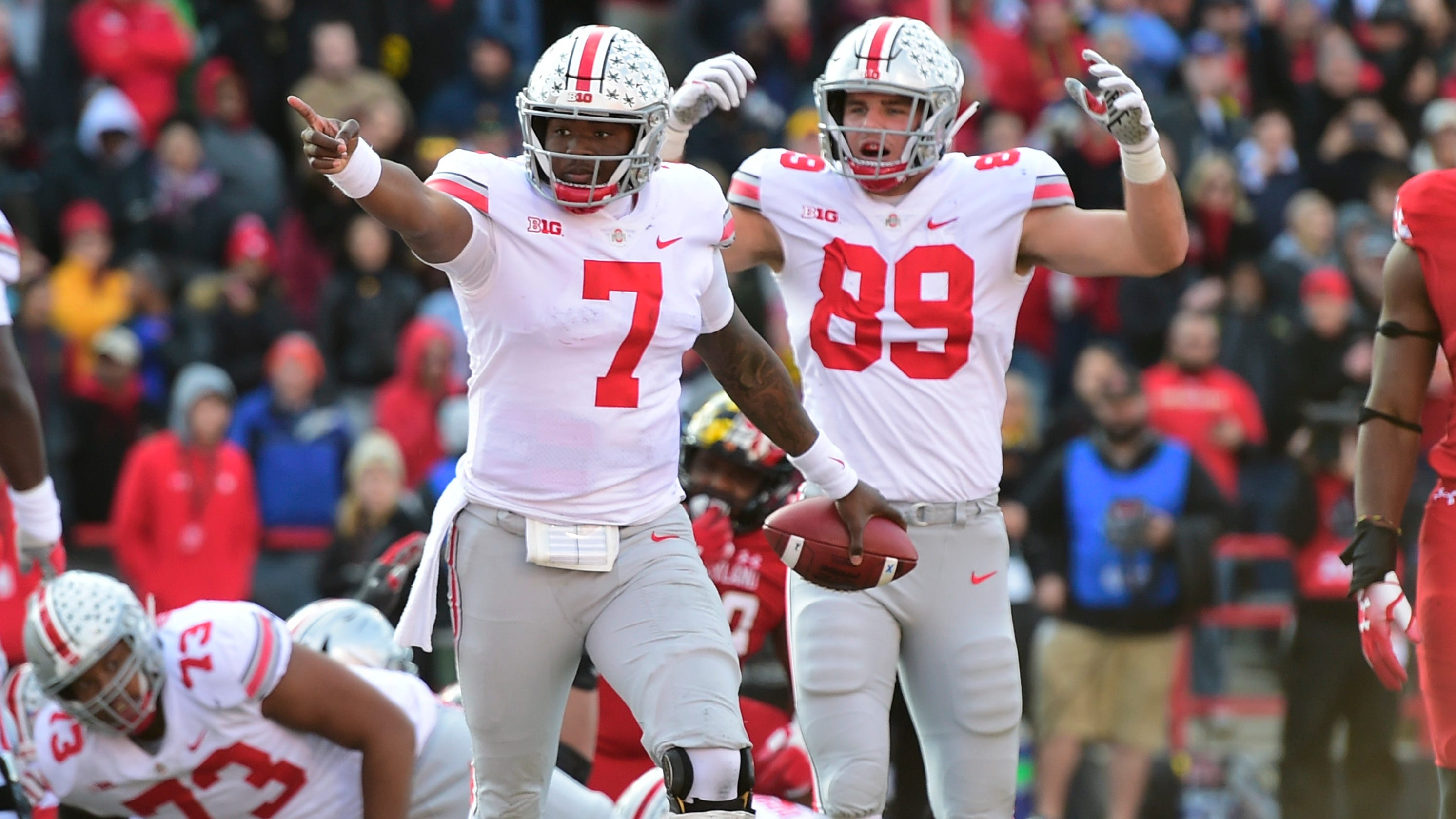 college football ohio state storms back escapes maryland in overtime
