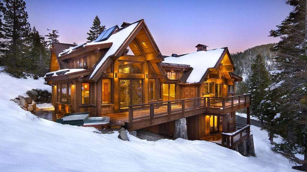 This five-bedroom rental in Alpine Meadows, California, sleeps 13 and rents from $943 a night.
