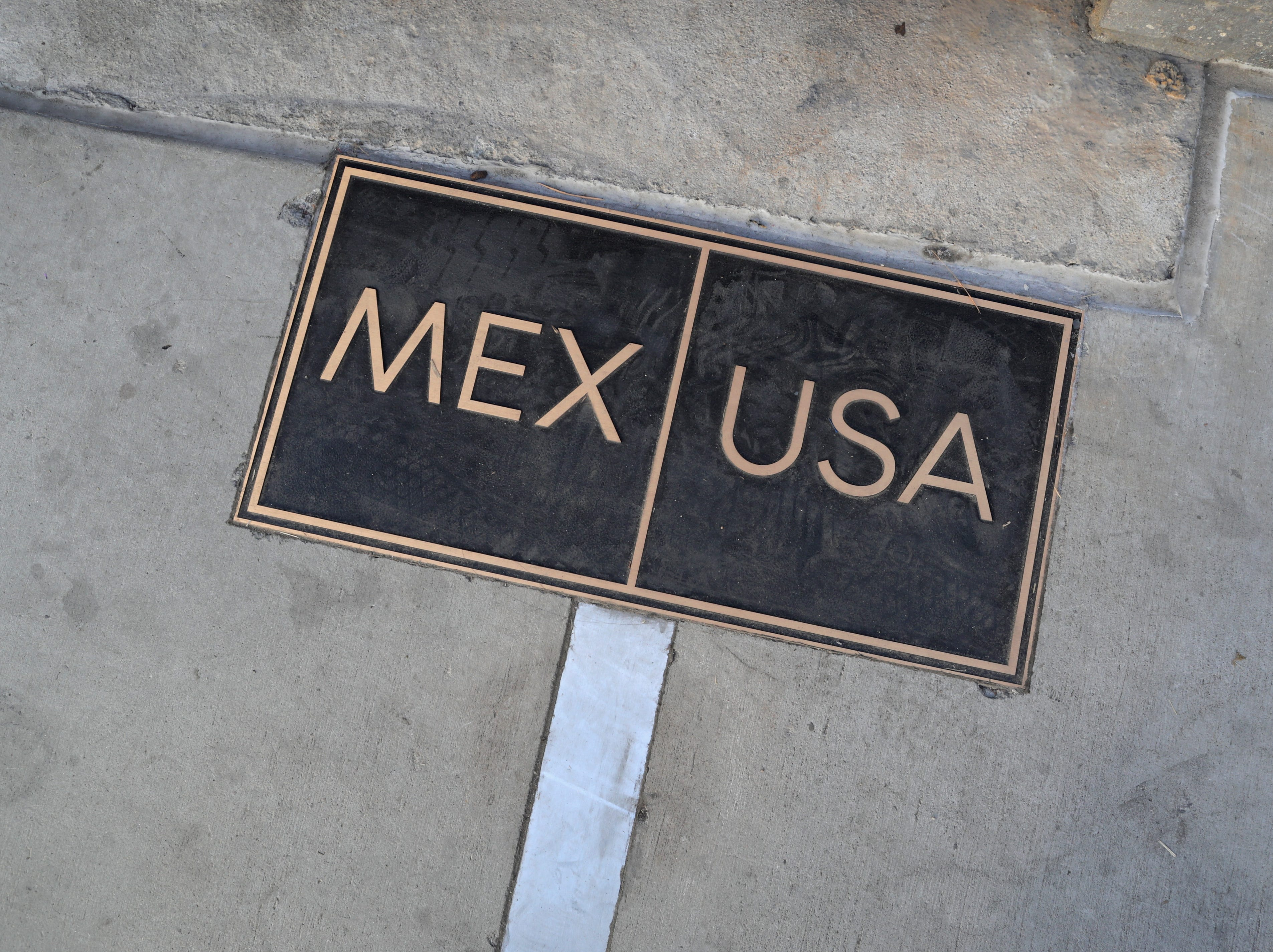 The U.S.-Mexico border is marked on Nov. 16, 2018 in San Ysidro, CA. U.S. border agencies continued to fortify the border with razor wire and additional personnel as members of the migrant caravan arrived to Tijuana across the border.