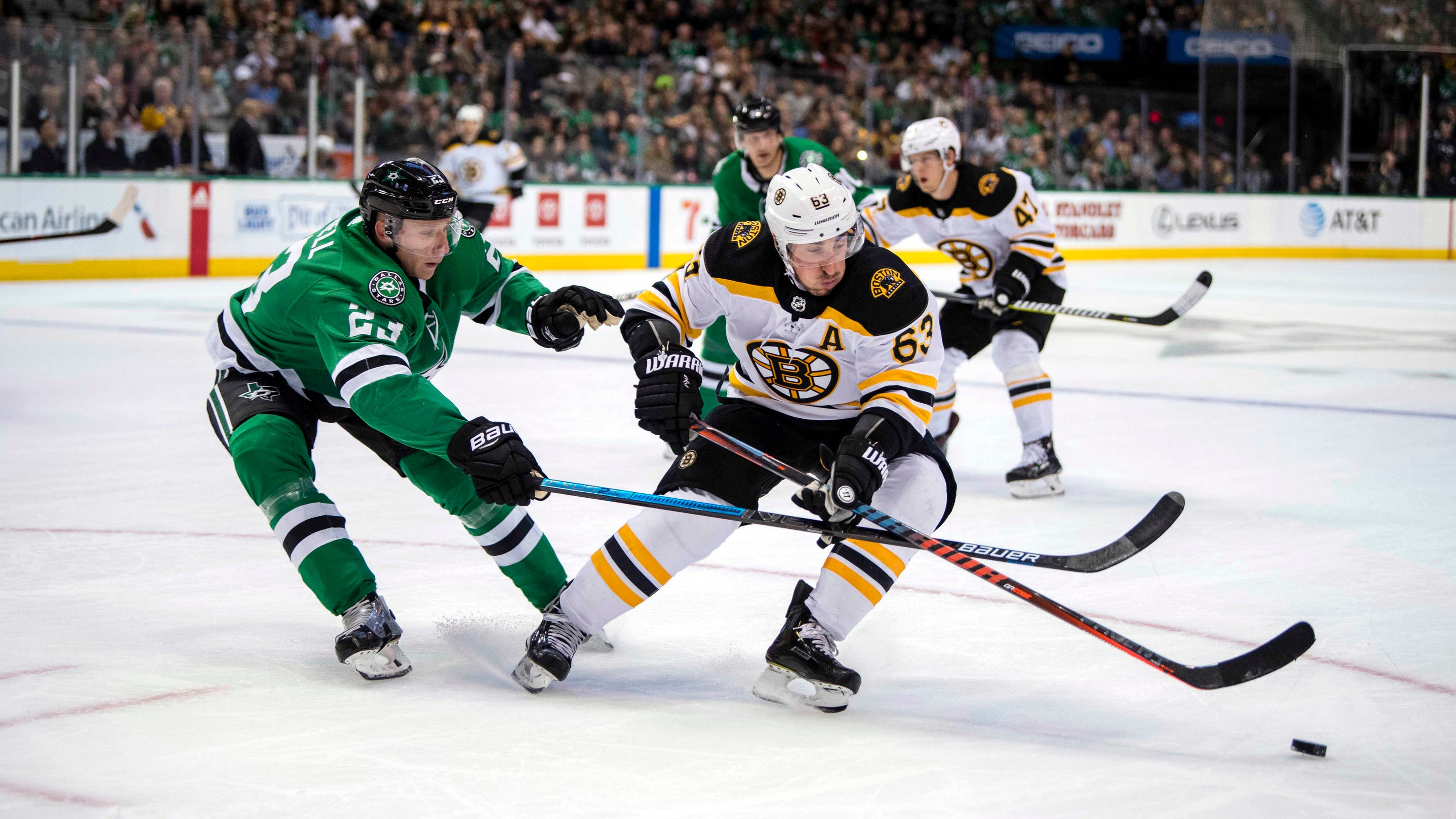1f1290ec15b Brad Marchand protesting another phantom call earns him misconduct