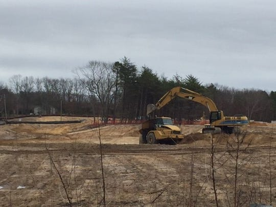 Construction at Route 9 and Whitty Road in Toms River earlier this year