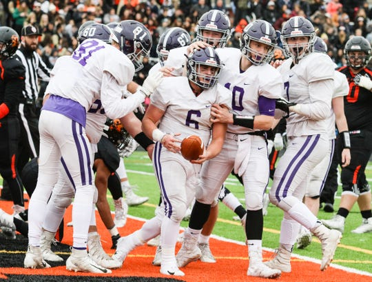 Rumson-Fair Haven vs. Somerville during the first half of the Central Group III football final at Somerville High School on November 18, 2018.