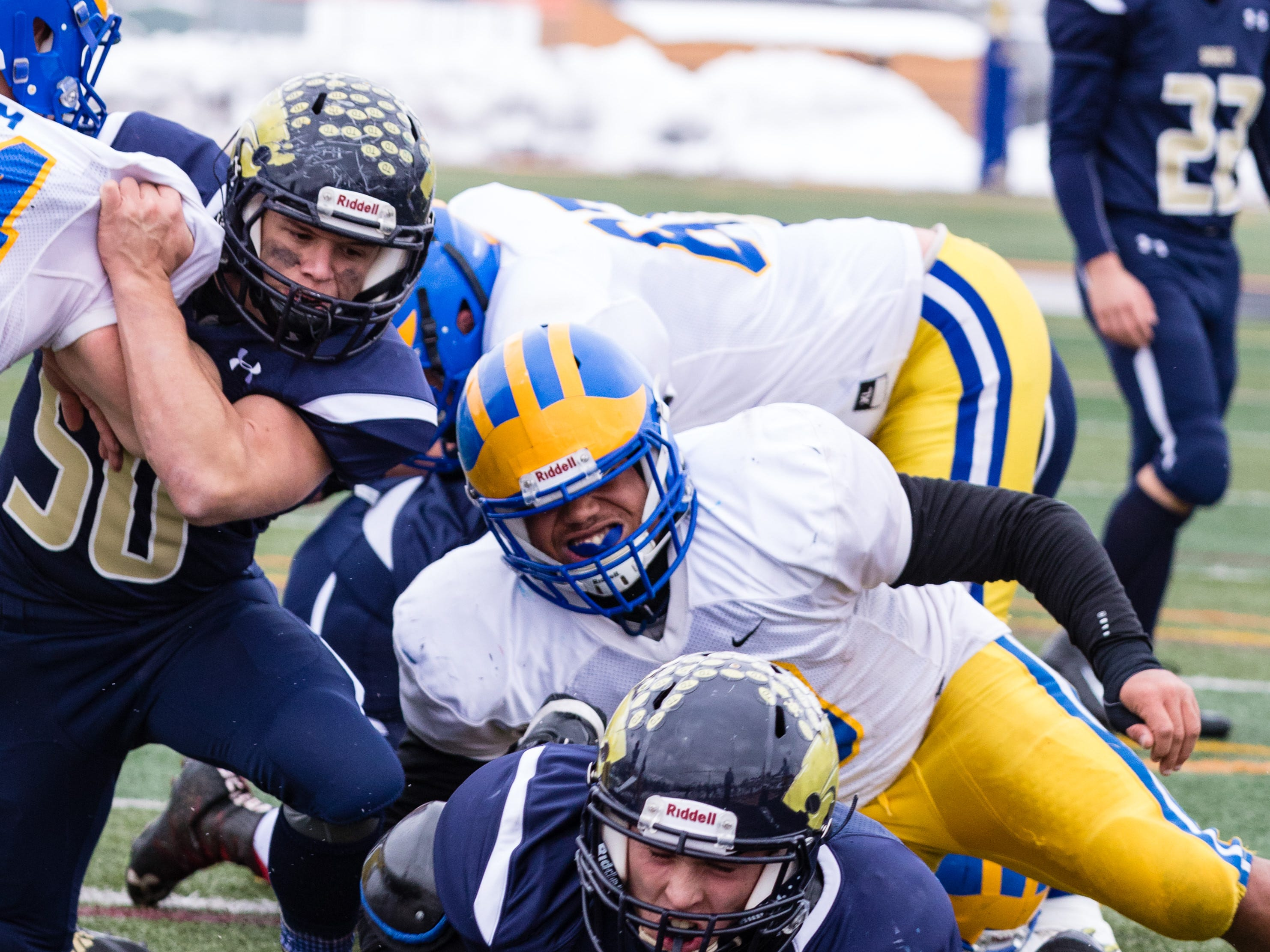 Action from Susquehanna Valley's 21-20 victory over Cleveland Hill in the Class C state semifinal on Saturday, November 17 at Union-Endicott.