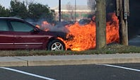 Car fire in Hammonton closes White Horse Pike