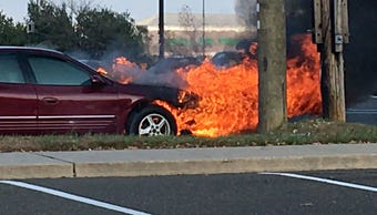 A car fire shut down the White Horse Pike in Atlantic County on Saturday. Hammonton Fire Station #2 put out the blaze on the 100 block of Route 30, in front of the Walmart, and the road was reopened soon after on November 17, 2018.