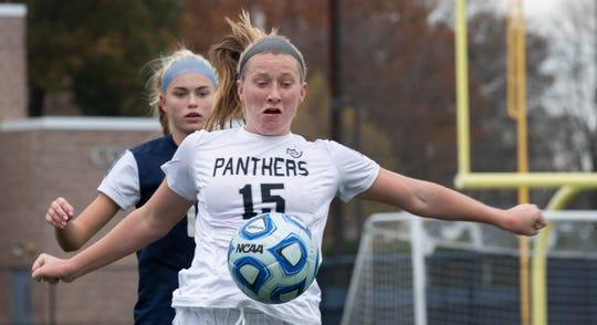 Bridgewater-Raritan's Allison Lynch defends against Eastern during the Group IV final on Nov. 18, 2018 at Kean University.