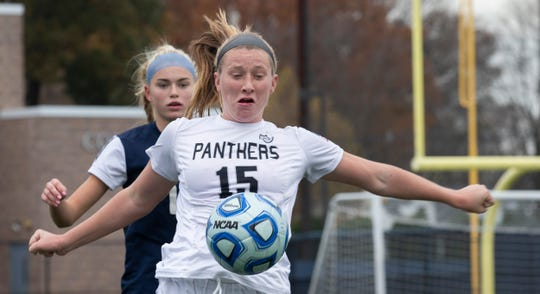 Bridgewater-Raritan's Allison Lynch defends against Eastern during the Group IV final on Nov. 18, 2018 at Kean University.